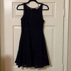 Navy BB Dakota Lace Dress